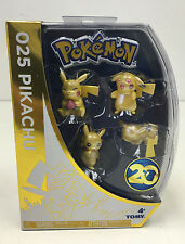 Pokemon Pikachu 20th Anniversary 4 set Tomy limited edition
