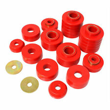 Energy Suspension 80-96 F150 80-97 F250 F350 Body Cab Mount Bushings Kit Red