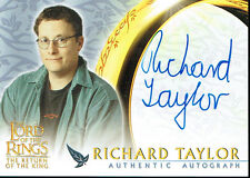 LORD OF THE RINGS RETURN OF THE KING AUTOGRAPH CARD TAYLOR