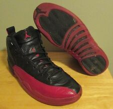 RARE 2003 Air Jordan Retro 12 XII Flu Game Bred Black Red Men's Shoes size 12