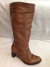 Le Saunda Brown Mid Calf Leather Boots Size 36