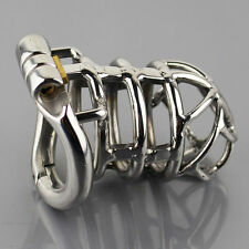 "S064 Handmade Stainless Steel Male Chastity Cage Device- Extra Large 2.25"" Ring"