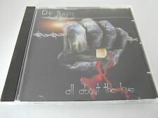 De Sade - All About The Love (CD 3 Tracks Single) Very Good