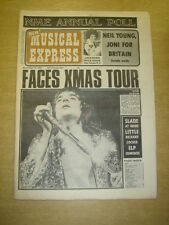 NME 1972 NOV 18 FACES NEIL YOUNG JONI MITCHELL JACKSONS SLADE LITTLE RICHARD ELP