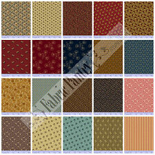 20 Civil War Reproduction Quilt Fabric Fat Quarters JUDIE'S ALBUM QUILT- Marcus