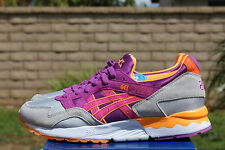 ASICS GEL LYTE V 5 SZ 8.5 SOFT GREY HYACINTH VIOLET PURPLE H504N 1034