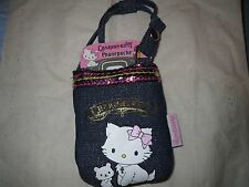 Sanrio Charmmy Kitty Denim Bag Pouch Charm - Hello Kitty Collectible