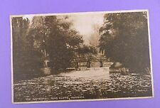 The Waterfall, Guys Cliffe, Warwick - Original Vintage Postcard, Posted 1924