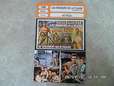 CARTE FICHE CINEMA 1960 LES RODEURS DE LA PLAINE Elvis Presley Steve Forrest