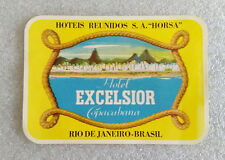 Vintage Rare ✱ HOTEL EXCELSIOR RIO JANEIRO ✱ Hotel luggage label Kofferaufkleber