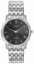 Citizen Eco-Drive Mens Stainless Steel ULTRA THIN Solar Watch AR1120-50F