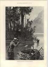 1893 Caza de ciervo en el bosque de las montañas Adirondack cantón Woodville