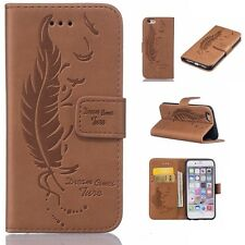 Card Holder Leather Flip Wallet Case Cover Stand Floral For iPhone 5 6 6s 7 Plus