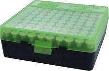 MTM Case-Gard Handgun Ammunition Ammo Storage Box 100 Round P-100-9 Green Black