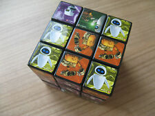 RUBIKS CUBE WALL-E DISNEY WALLY EVA WITH RUKIKS MARK ON SQUARE ROBOT