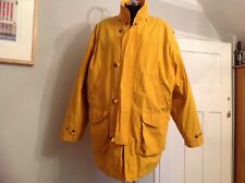 Gant Jacket Men Sailing Sport Patch Detachable Wool Lining XL Yellow Button Zip