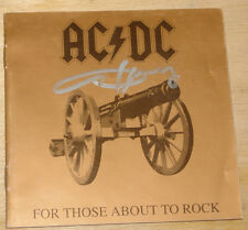 AC/DC FOR THOSE ABOUT TO ROCK CD SIGNED BY ANGUS YOUNG UACC REGISTERED DEALER