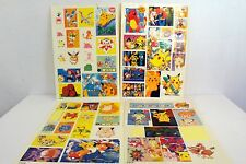 Set of 4 Bootleg Pokemon Sticker Sheets Anime Nerd Geek Pocket Monsters Art