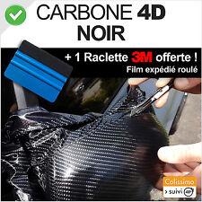 Film vinyle CARBONE 4D Noir 100cm X 152cm anti bulles Pose Facile + raclette 3M