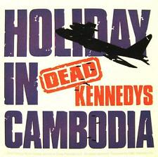 """DEAD KENNEDYS AUFKLEBER / STICKER # 5 """"HOLIDAY IN CAMBODIA"""" - PVC - WETTERFEST"""