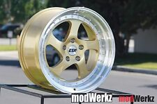 18x8.5 Inch +30 ESR SR02 5x114.3 Gold Wheels Rims Civic TSX RSX IS300 GTI TC XB