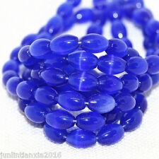 New 8x12mm Blue Mexican Opal Gemstone Rice Loose Bead 14''