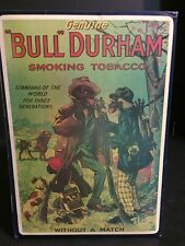 RARE Antique Bull Durham Smoking Tobacco Advertising Box Black Americana