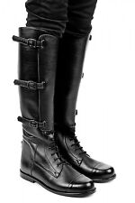 New Horse Riding Officer Leather Field Boot with side 3 Buckles UK size 5-12