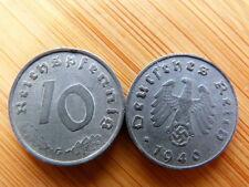 Pièce monnaie ALLEMAGNE GERMANY DEUTSCHLAND 10 PF DEUTSCHES REICH 1940