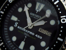 Vintage Seiko SCUBA PRO 450 Divers watch automatic custom 7002 CHAIN SHARK MESH