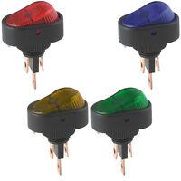KFZ 12V Wippschalter SPST Wippenschalter LED Beleuchtet Einbauschalter Licht