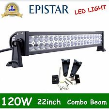 """22""""in 120w Flood Spot Combo Led Work light Bar 4WD UTE Offroad SUV ATV /300w ODL"""