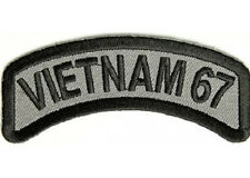 VIETNAM 1967 MILITARY ARMY VETERAN EMBROIDERED IRON ON BIKER PATCH