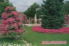 Bronson Park, Kalamazoo Michigan, Fountain, Flower Festival in July --- Postcard
