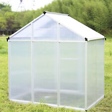 6'x4' Garden Greenhouse Heavy Duty Polycarbonate Roof Walk In