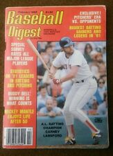 FEBRUARY 1982 BASEBALL DIGEST, CARNEY LANSFORD BOSTON RED SOX