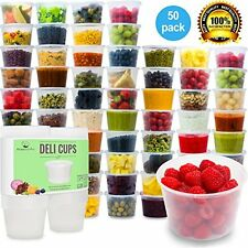 Dessert Bowls Plastic Food Storage Containers With Lid Foodsavers Party Supplies
