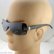 DG Eyewear Shield Womens Designer Sunglasses Shades Silver Black Fashion Rimless