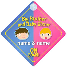 Big Brother Baby Sister a bordo Personalizable Coche Señal