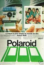 Publicité advertising 1978 Appareil Photo Polaroid 1000