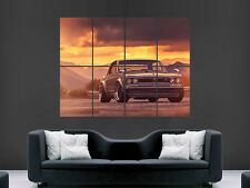 NISSAN SKYLINE GTX 2000 CAR CLASSIC SUNSET  GIANT WALL PICTURE PRINT LARGE HUGE
