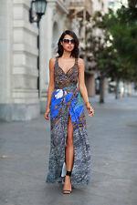 Diane Von Furstenberg DVF NEW Sonia Silk Jersey Wrap Maxi Dress Size 2 NWT $598