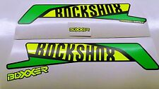 ROCK SHOX BOXXER 2016 FORK / SUSPENSION DECAL SET NEON YELLOW