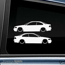 (975) 2x Fun Sticker Aufkleber  Low and Slow BMW E46 Coupe OEM M3 Motorsport