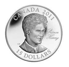 2011 Canada Ultra-High Relief Sterling Silver Coin H.R.H. Prince Henry of Wales