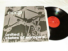 "CCCP United States of Europe 12"" 45 RPM VINYL LP 1989 Made in Germany C.C.C.P."