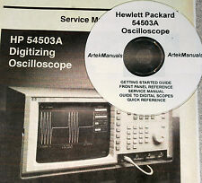 HP 54503A SERVICE  & OPERATION MANUALS (5 VOLUMES)