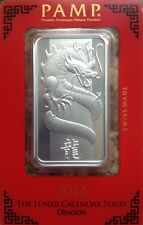 Pamp Suisse Silver 2012 Lunar Dragon 1 Oz In Assay