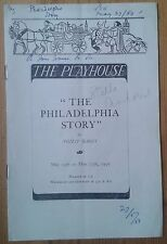 The Philadelphia Story programme The Playhouse theatre 1950 Stella Andrew