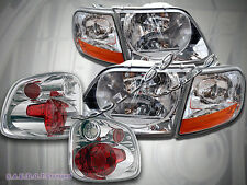 97-00 FORD F150 FLARESIDE / STEPSIDE CLEAR HEADLIGHTS+ TAIL LIGHTS 98 99